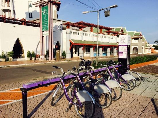 หน้าโรงแรมตรงเทอเรสริมแม่น้ำน่านมีจุดให้ยืมจักรยานด้วย ใครฟิตๆก็ปั่นจักรยานเที่ยวได้นะ สถานทีท่องเที่ยวในเมืองอยู่ไม่ไกลกัน มีทั้งวัดวังเก่า และพิพิธภัณฑ์ชาวบ้านด้วย